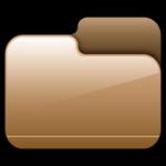 مجلد مقفلة براون أيقونة