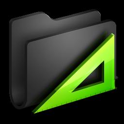 Applications Black Folder icon