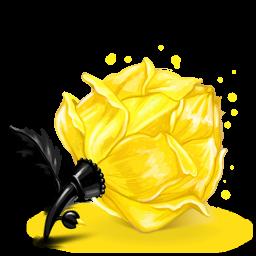 Box 23 Rose Yellow icon