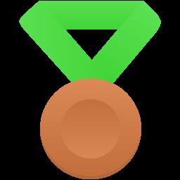 Bronze metal green icon