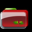 Christmas Folder Holly 3 icon