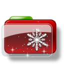 Christmas Folder Snow Stars icon