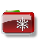 Christmas Folder Snow icon