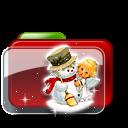 Christmas Folder Snowman icon