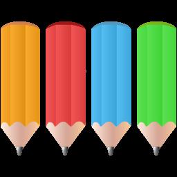 Color pencils icon