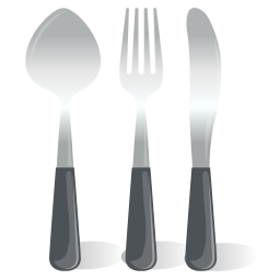 Cutlery Spoon Fork Knife icon