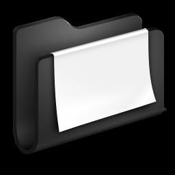 Documents Black Folder icon