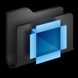 Dropbox Black Folder icon