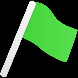 Flag1 green icon