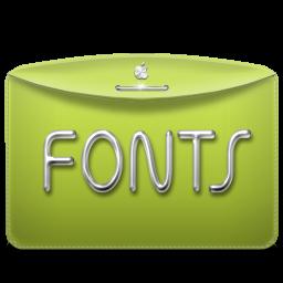 Folder Text Fonts icon