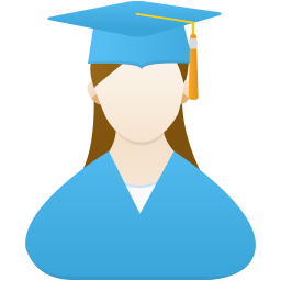 Graduate female icon