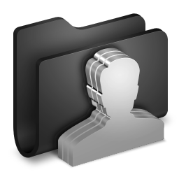 Group Black Folder icon