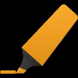 Highlightmarker orange icon