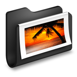 Photos Black Folder icon