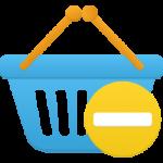 سلة التسوق حظر رمز