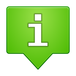 Status dialog information icon