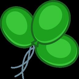 balloons green icon