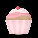 cupcake cake cherry icon