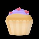 cupcake cake hearts icon