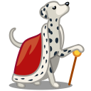 dog dalmatian king icon