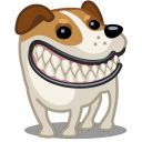 dog russel grin icon