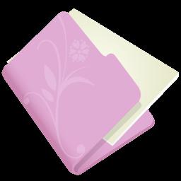 folder flower lila icon
