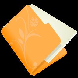 folder flower orange icon