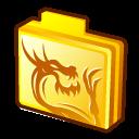 folder rising dragon icon