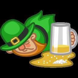 leprechaun drunk icon