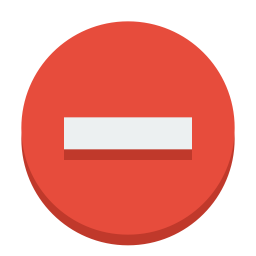 sign delete icon
