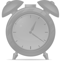 Alarm clock disabled icon