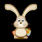 أرنب عيد الفصح البيض رمز آر إس إس