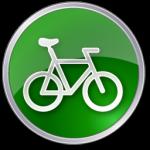 دراجة الخضراء أيقونة