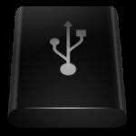 أسود محرك USB أيقونة