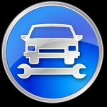 تصليح السيارات الأزرق أيقونة